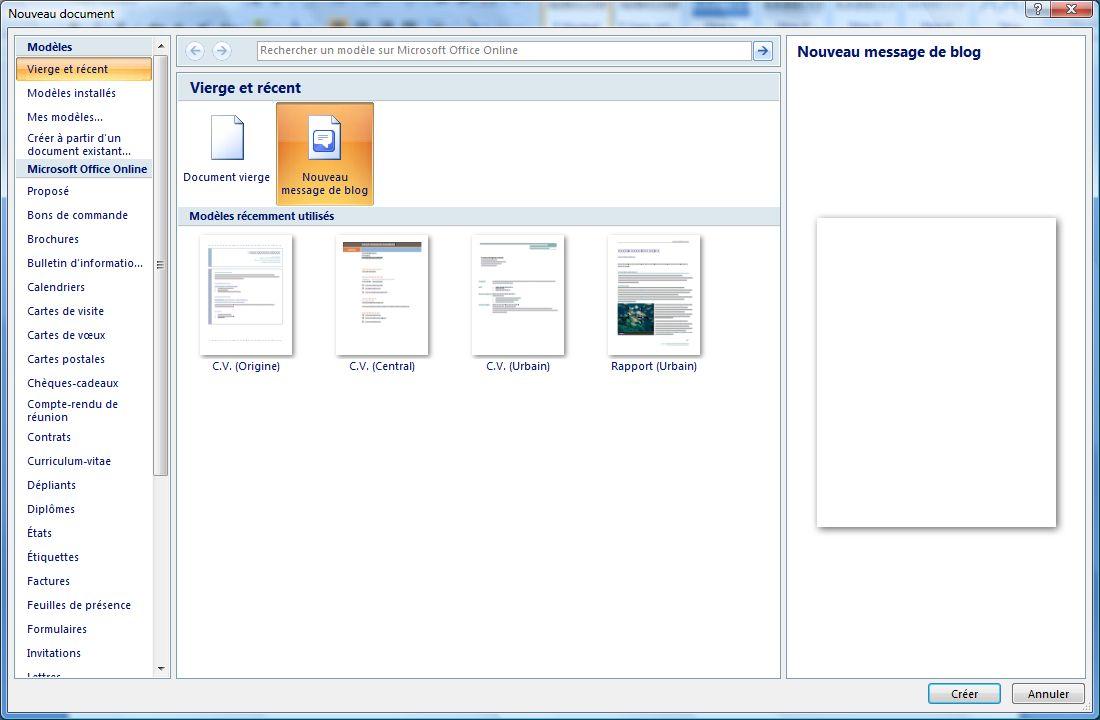 Bloguer Avec Microsoft Word 2007