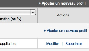 Capture d'écran - Ajout d'un profil Google Analytics