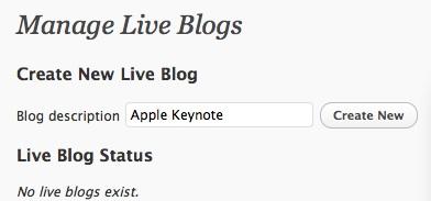 Capture d'écran - Création d'un live blog pour WordPress