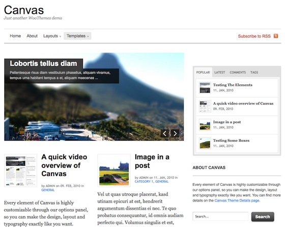 Capture d'écran - Canvas par WooThemes