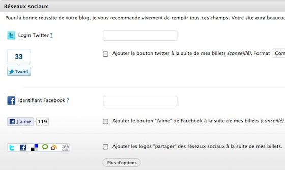 Capture d'écran - Easy ToolBox, fonctionnalités sociales