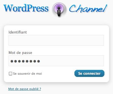Capture d'écran - Ecran de connexion personnalisée pour WordPress
