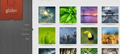 Glider, le thème portfolio pour WordPress par Elegant Themes