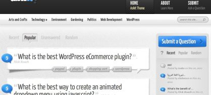 Askit, un thème Questions / Réponses pour WordPress chez Elegant Themes