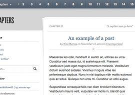 Chapters, un thème premium pour les écrivains par WooThemes