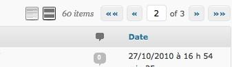 Capture d'écran - Système de pagination améliorée dans l'administration de WordPress