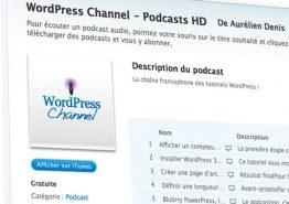 WordPress Channel diffuse ses podcasts sur l'iPad en définition standard