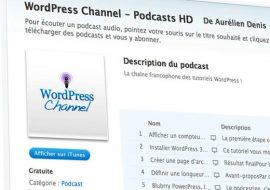 WordPress Channel diffuse ses podcasts sur l'iPad en définition standard