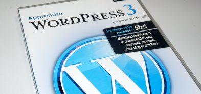 Apprendre WordPress 3 en DVD chez Elephorm par Olivier Gobet