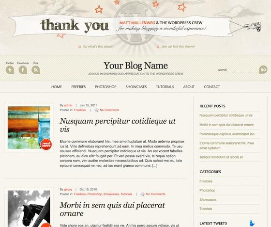 Capture d'écran - Aperçu de WordPress Anniversary, un thème premium gratuit pour WordPress
