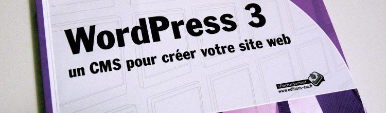 """Photographie - Couverture """"WordPress 3 un CMS pour créer votre site Web"""""""