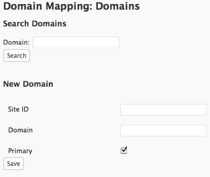 Capture d'écran - Ajout d'un domain à mapper dans le mode multi-domaine de WordPress 3.0