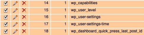 Capture d'écran - Modification des valeurs de la colonne meta_key