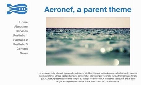 Capture d'écran - Aperçu de Aeronef, un thème premium de chez Peaxl