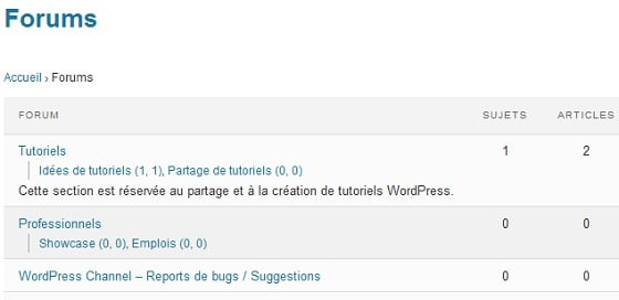 Capture d'écran - Démonstration de bbPress 2.0 sur WordPress Channel