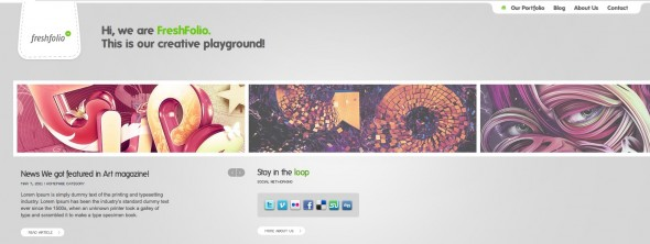 Capture d'écran - Freshfolio, thème WordPress portfolio