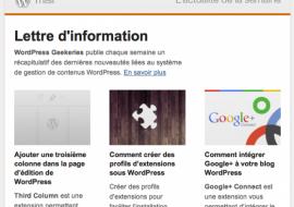 Geekeries.fr lance une newsletter francophone sur WordPress