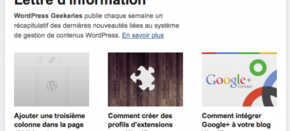 Geekeries.fr lance une newsletter francophone sur WordPress