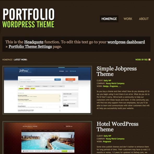 Capture d'écran - Portfolio, thème WordPress portfolio