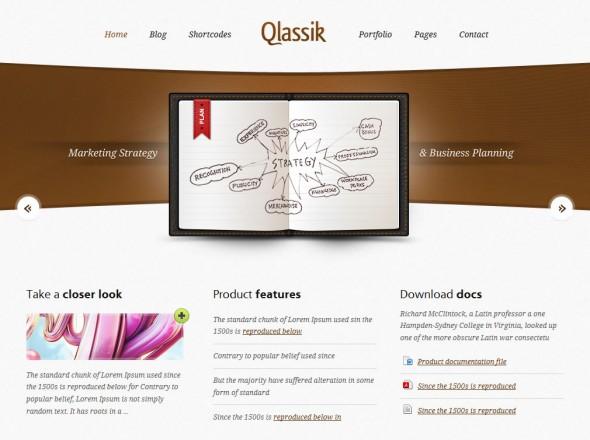 Capture d'écran - Qlassik, thème WordPress portfolio