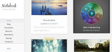Notebook, un thème premium Tumblr pour WordPress