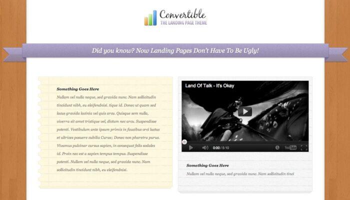 Convertible, un thème WordPress premium pour marketeurs