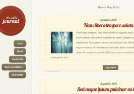Daily Journal, un thème premium responsive pour créer un blog personnel