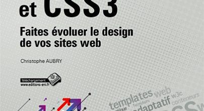 Couverture HTML 5 et CSS3 de chez Eni