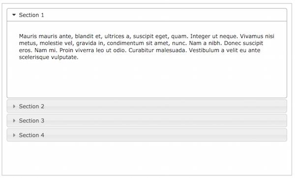 Exemple d'effet accordéon avec une boucle WordPress