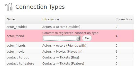Capture d'écran - Gestion des connexions enregistrées dans le code