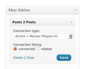 Capture d'écran - Widget pour afficher les contenu liés
