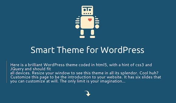 Capture d'écran - Aperçu de Smart Theme, un thème premium par Marie Faubert