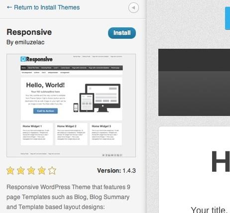 Capture d'écran - Aperçu temps réel d'un thème WordPress