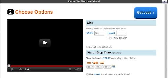 Capture d'écran - EmbedPlus, étape 2