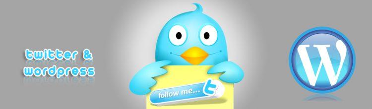 Bannière - Twitter et WordPress