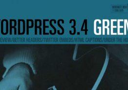 WordPress 3.4 «Green» disponible au téléchargement en français