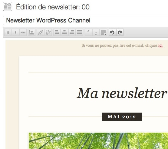 Capture d'écran - K-news pour WordPress