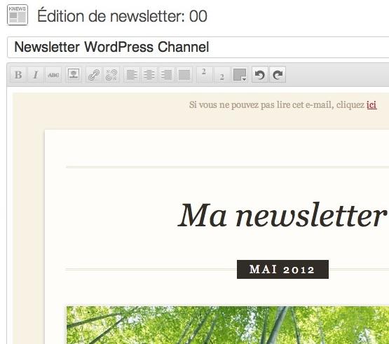 Capture d'écran - K-news pour WordPress