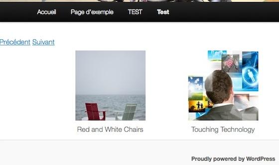 Capture d'écran - CarouFredSel.js sous WordPress
