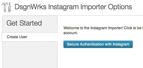 Capture d'écran - Authentification sous Instagram Importer