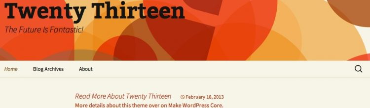 wordpress-twenty-thirteen