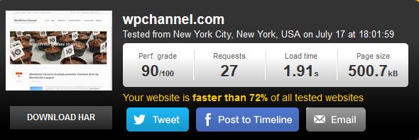WP Rocket sous WordPress Channel