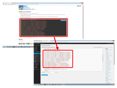 Insertion du code