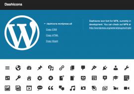Utiliser les dashicons de WordPress 3.8 dans le thème et les types de contenu