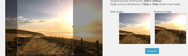 Manual Image Crop WordPress