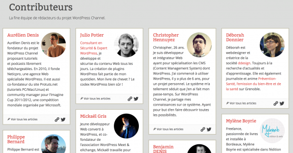 Les Contributeurs de WordPress Channel