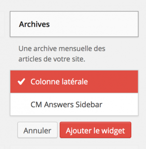 WordPress 3.9 - Nouvelle gestion des widgets