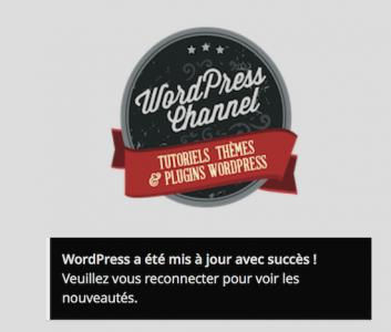 WordPress 4.0 une fois mis à jour nécessite la reconnexion
