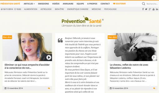 Capture d'écran - Format d'article de type 'Citation' chez Prévention Santé