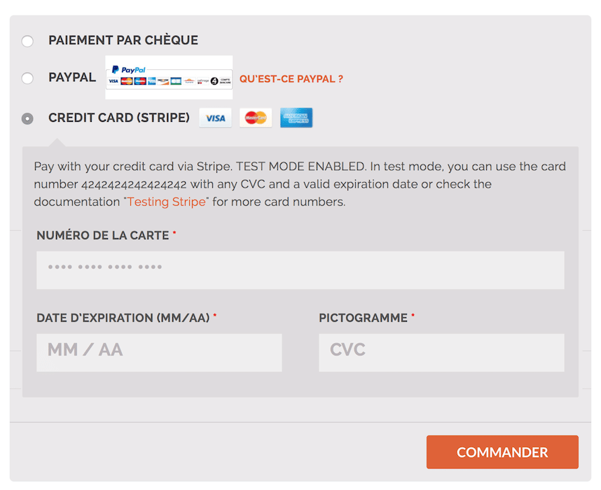 Carte Bleue Traduction.Stripe Woocommerce La Passerelle De Paiement Par Carte
